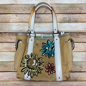 Coach Limited Edition Bumble Bee and Flowers Tote